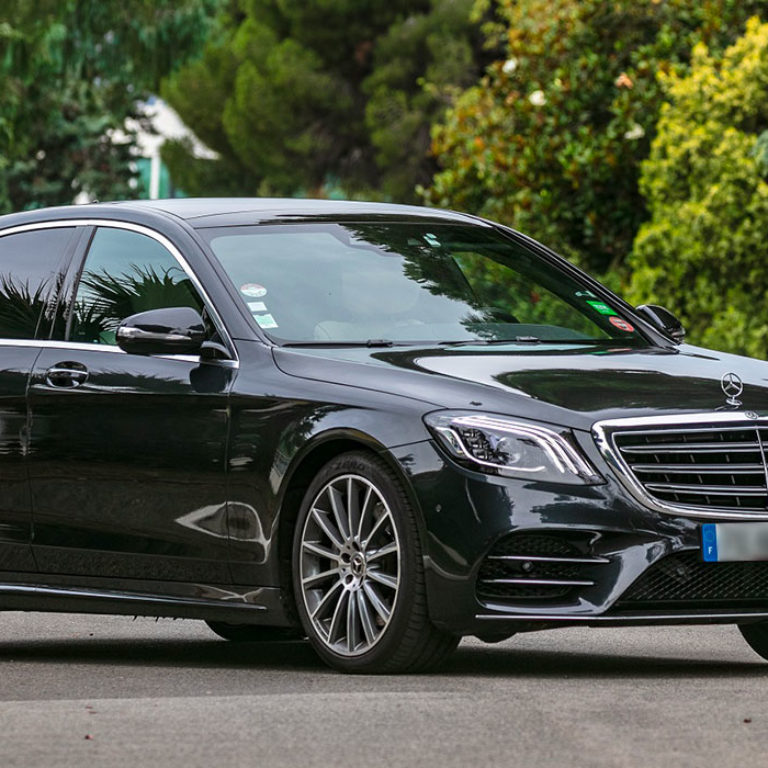Mercedes S class chauffeur service French Riviera