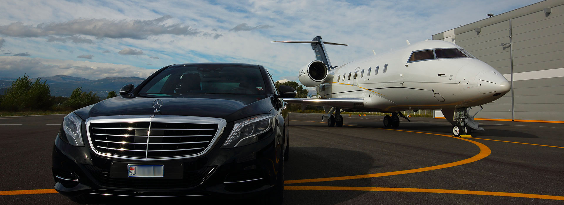 private aviation chauffeur Nice |